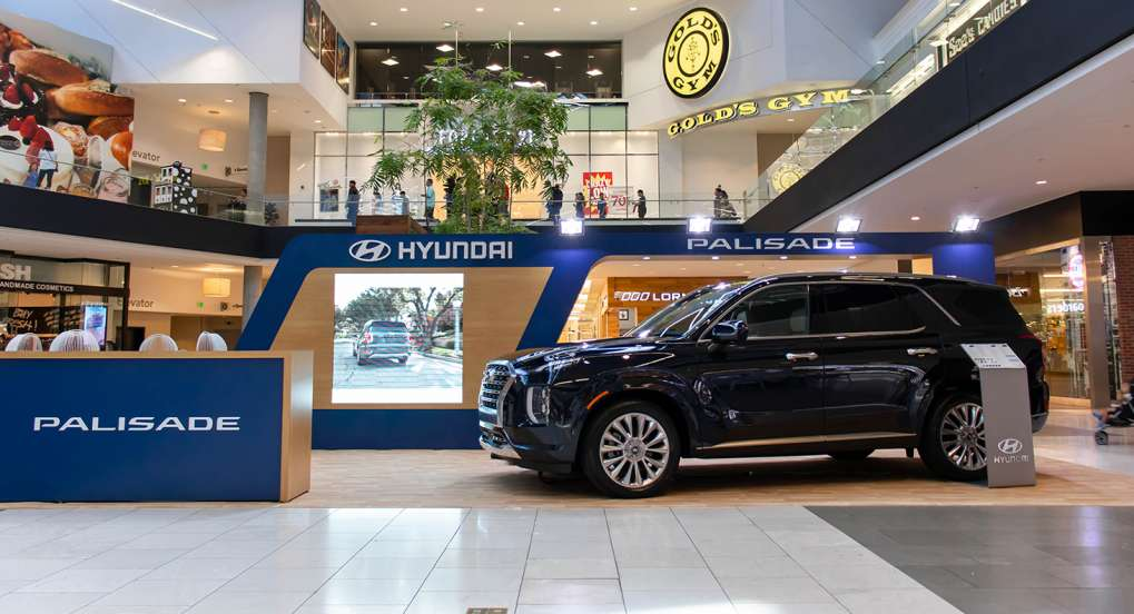 Hyundai Vehicle Display at Westfield Santa Anita Mall